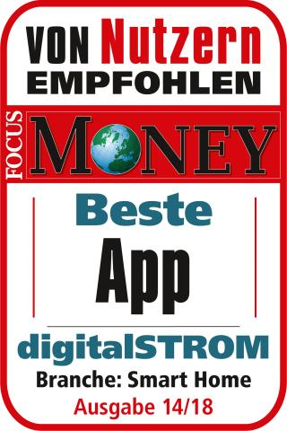 FOCUS-MONEY-Siegel Beste App - digitalSTROM
